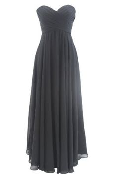 Dressestell Long Black Simple Bridesmaid Dresses