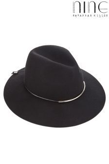 Nine By Savannah Miller Metal Bar Fedora