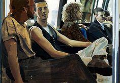Richard Estes - 5th Avenue Bus Sketch, 1995.