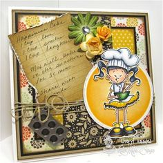 From the Lulu and Friends set by Kraftin' Kimmie Stamps  Design by Cheryl Valadez