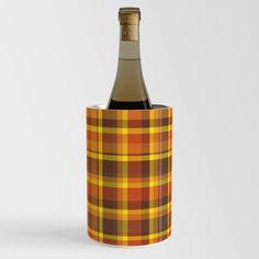 That 70s Look Tartan Plaid Wine Chiller Wine Chillers, Tartan Plaid, Bottle, Flask, Jars