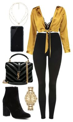"""""""Untitled #842"""" by naomiariel ❤ liked on Polyvore featuring Topshop, Isabel Marant, Boohoo, Witchery, Yves Saint Laurent, Karl Lagerfeld, Belkin, Jacquie Aiche and Gucci"""