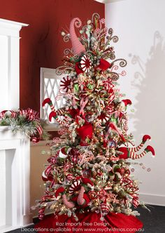 Raz Imports Christmas Tree theme for 2015, Peppermint Toy