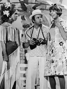 Vicki Lawrence, Tim Conway, Harvey Korman (not shown) & Carol Burnett of the Carol Burnett Show!  I used to watch this with my family when I was a kid - one of the most funniest shows that I have ever seen to this day!