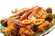 Philippine Rice with Chicken and Seafood
