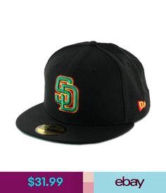 Hats Era 59Fifty San Diego Padres Fitted Hat (Black/Rasta) Men's Custom Mlb Cap #ebay #Fashion