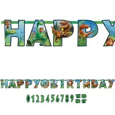 Buy The Good Dinosaur Jumbo Letter Banner and other party supplies. The most popular party Supplies and Decorations, all available at wholesale prices! Dinosaur Party Decorations, Dinosaur Party Supplies, Dinosaur Party Favors, Birthday Letters, 4th Birthday, Birthday Ideas, The Good Dinosaur, Happy B Day, Banner