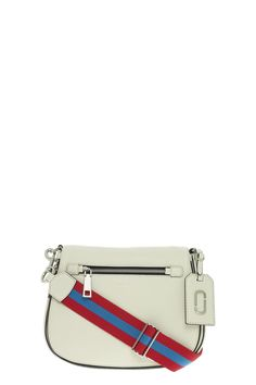 The Marc Jacobs Gotham Leather Saddle Bag is crafted from leather and has a dome shape. It features a front flap opening; adjustable crossbody guitar strap that is removable with clip hardware; exterior zip pocket and exterior anding. 100% Cow LeatherCountry of Origin: Italy