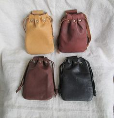 Medieval Leather Pouch Bag