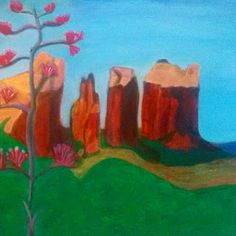My Art Notes: New Work in Process – Acrylic Landscape Painting