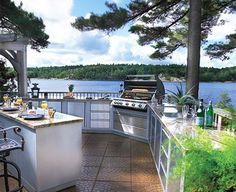 Awesome Material Used Cabinets For Outdoor Kitchen