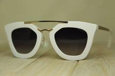 fdeb50897bc Prada CINEMA SPR09Q SPR 09Q SPR09QS Ivory Sunglasses Cat- Eye 7S30A6 Ivory