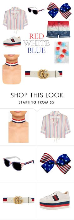 """""""The 4th:Plz like this"""" by cuppiebroke ❤ liked on Polyvore featuring Solid & Striped and Gucci"""