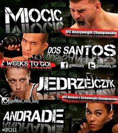 2 WEEKS TO GO!! #UFC211 MMA Daily #mma #ufc