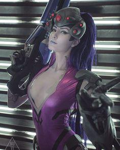 Widowmaker from Overwatch by Oniksiya Sofinikum @ instagram.com/oniksiya_sofinikum #oniksiyasofinikum #hot #sexy #cosplay #girl #cosplaygirl