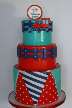 Boy Cakes, Cakes For Boys, Mini Cakes, Cupcake Cakes, Cupcakes, Beautiful Cakes, Amazing Cakes, Train Cakes, Cookie Decorating