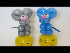 Мышь и сыр, твистинг из шаров / Mouse and cheese balloon animal twisting - YouTube
