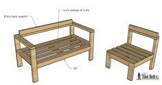 Construya su propio asiento al aire libre de 2x4 de estos planes fáciles y gratuitos en hertoolbelt.com