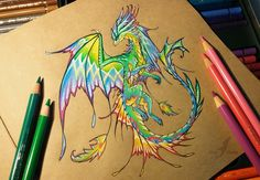 Splash of colors I thought, why not to do a challenge - to draw a very colorful dragon, and let imagination run wild (: You also can try to draw a tropical dragon, it's very funny^^ Pencils, pens o...