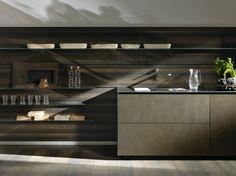 Cucina componibile lineare in acciaio RICICLANTICA ACCIAIO - VALCUCINE