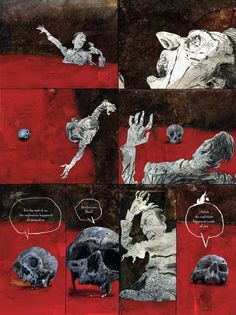Dave McKean - Black Dog #Dave #McKean Storyboard, Comic Book Layout, Comic Books Art, Manga, Dave Mckean, Concept Art Tutorial, Graphic Novel Art, Tree Sketches, Bd Comics