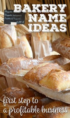 Bakery names: first step to a profitable business