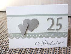 Hochzeitskarten   ♥ Einladungskarte ♥ Grußkarte ♥ Glückwunschkart...   Ein  Designerstück Von MeinHERZKLOPFEN. Einladungskarten SilberhochzeitEinladung  ...