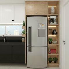 Kitchen Cabinet Design, Kitchen Cupboards, Modern Kitchen Design, Interior Design Kitchen, Home Room Design, Small House Design, Home Decor Kitchen, Home Kitchens, Cuisines Design