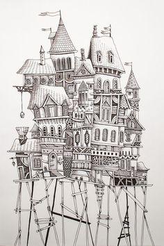 Home by Eren Dedeleroglu, via Behance.