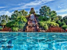 The Boneyard aka pool area at Coronado Springs Resort at Walt Disney World
