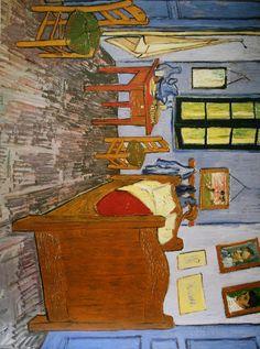 Behind the Paint: \'The bedroom at Arles\' Van Gogh | Van gogh, Yellow ...