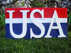 USA Marquee Sign [Wood Connection]