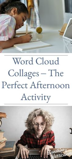 Word Cloud Collages-The Perfect Afternoon Activity #KidFriendly #AfternoonActivity #Collage #Activity #Afternoon Parenting Articles, Parenting Books, Parenting Teens, Summer Fun For Kids, Cool Kids, Book Suggestions, Parent Resources, Class Projects, Business For Kids