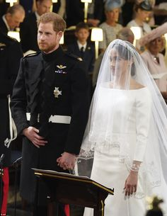 Harry would not let go of his new wife's hands throughout the moving ceremony in Windsor t...