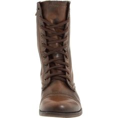 It's hard to resist the allure of this Troopa boot from Steve Madden. The military-inspired design features a sturdy leather upper with lace-up and side-zip cl…