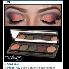 Perfect fall eye shadow pallet. Get yours here: http://www.motives.marketamerica.com/cashback24