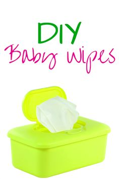 Make Your Own Baby Wipes! Making your own baby wipes is super easy and CHEAP! Find out how to make baby wipes now Diy Cleaning Products, Cleaning Hacks, Cleaning Wipes, Make Your Own, Make It Yourself, Diy Carpet Cleaner, Saving Ideas, How To Clean Carpet, Simple Way