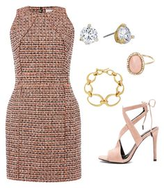 """""""Tweed dress - Work"""" by brittjade ❤ liked on Polyvore featuring Kendall + Kylie, dVb Victoria Beckham, Kate Spade, Dinny Hall and River Island"""