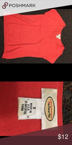 Coral sweater Coral light weight sweater. Size small. Really great condition! Please ask questions, and please make an offer! Bundle for a discount! Talbots Sweaters V-Necks