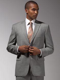 grey tux -  Men's Warehouse  I like this texture