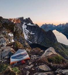 Camping with a view of the Fjords in Norway  Photo: @wheretowillie #wildernessculture