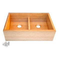"""Alfi AB3321 AB3321 33"""" Double Bowl Bamboo Kitchen Farm Sink - Introducing the first solid bamboo kitchen farm sink, Alfi can help you create the ideal eco-friendly kitchen. Bamboo is one of the fastest growing plants in the world and replenishes itself very quickly. Go green in your kitchen with Alfi."""