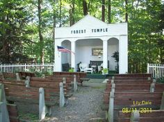 The beautiful Forest Temple on the grounds of Lily Dale.