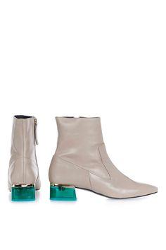 0e366f4f86abd8 Topshop AUBERGINE Perpsex Heeled Boots Aubergine