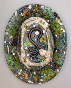 PALISSY, Bernard Foot-bowl in Rustic Style 1550-90 Ceramic, glazed, 53 x 40 cm Österreichisches Museum für angewandte Kunst, Vienna