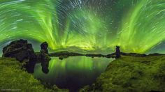 Auroras and Star Trails over Iceland
