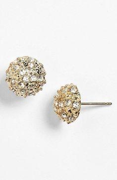 Dome stud earrings