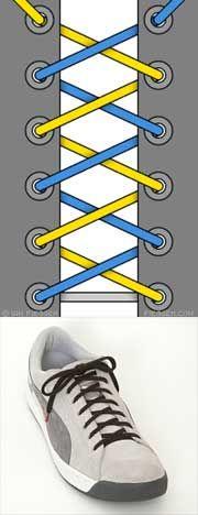 Оригинальные способы шнуровки ботинок. Виды и способы шнуровки.