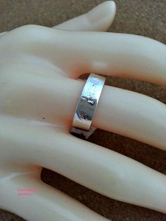 Plain Band Ring Wedding Silver Ring Silver Ring by flowerpecker