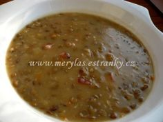 Czech Recipes, Korn, Beans, Food And Drink, Health Fitness, Vegetables, Cooking, Soups, Kitchen